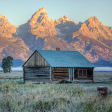 Old Cabin at Mormon Row, Wyoming Photographic Print by Vincent James