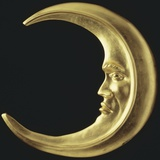 Gilded Crescent Moon Photographic Print