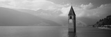 Clock Tower in a Lake, Reschensee, Italy Photographic Print