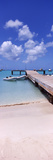 Boats Moored at a Pier, Sandy Ground, Anguilla Photographic Print