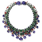 Gemstone Necklace with Amethyst, Ruby, Emerald and Diamond Photographic Print