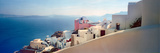 Town at the Waterfront, Santorini, Cyclades Islands, Greece Photographic Print