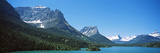 Lake in Front of Mountains, St. Mary Lake, Us Glacier National Park, Montana, USA Photographic Print