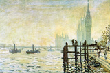 Claude Monet Westminster Bridge in London Art