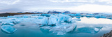 Icebergs Floating in Glacial Lake, Jokulsarlon, South Iceland, Iceland Photographic Print