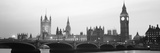 Houses of Parliament Westminster Bridge and Big Ben London England Photographic Print