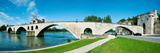 Bridge across a River, Pont Saint-Benezet, Rhone River, Avignon, Vaucluse Photographic Print
