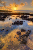 Morning Sun Beams at Poipu, Kauai Photographic Print by Vincent James