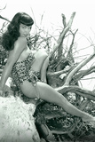 Bettie Page Beach Bettie Pin-Up by Retro-A-Go-Go Poster Prints