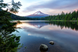 Summer Sunset at Trillium Lake, Oregon Photographic Print by Vincent James