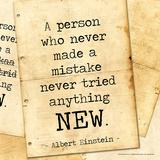 Never Made a Mistake - Albert Einstein Classic Quote Plakat av Jeanne Stevenson