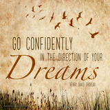 Go Confidently - Henry David Thoreau Classic Quote Art par Jeanne Stevenson