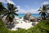 Tropical Beach, Seychelles Fotodruck von Paul Souders