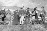Extended Family Poses in Colorado, Ca. 1900 Photographic Print