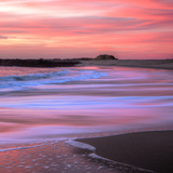 Sunset Beach Paint (Square) Photographic Print by Vincent James