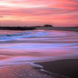 Sunset Beach Paint (Square) Photographic Print by Vincent James