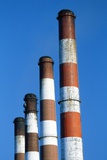 Smokestacks at a Power Plant Photographic Print by Roger Ressmeyer