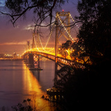 Bay Bridge, A Night on the Town, San Francisco Photographic Print by Vincent James