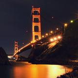 Golden Gate Bridge Retro View Photographic Print by Vincent James
