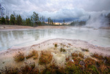 Stormy Morning Near Mud Volcano, Yellowstone Photographic Print by Vincent James