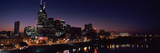 Skylines at Night Along Cumberland River, Nashville, Tennessee, USA 2013 Photographic Print