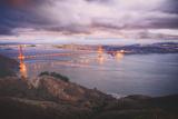Stormy Glow at Golden Gate Bridge, San Francisco Photographic Print by Vincent James