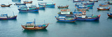 Fishing Boats at a Harbor, Mui Ne, Vietnam Photographic Print
