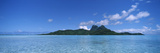 Bora Bora from Motu Iti, Society Islands, French Polynesia Photographic Print