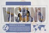 Vishnu World Mythology Poster Print by Christopher Rice