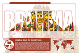 Brahma World Mythology Poster Prints by Christopher Rice