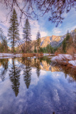 Yosemite Valley Early Winter Reflections Photographic Print by Vincent James