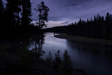 Yellowstone River Morning Silhouettes Photographic Print by Vincent James