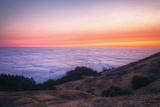 Sunset Above the Fog Line, Mount Tampalais Photographic Print by Vincent James