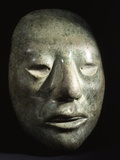 Mayan Jade Portrait Head Photographic Print