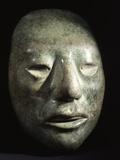 Mayan Jade Portrait Head Photographic Print
