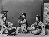 Women Playing Traditional Japanese Instruments Photographic Print