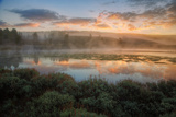 Misty Warm Sunrise Near Yellowstone River Photographic Print by Vincent James