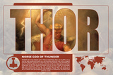 Thor World Mythology Poster Poster by Christopher Rice