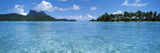 Motu and Lagoon, Bora Bora, Society Islands, French Polynesia Photographic Print