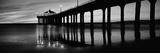 Low Angle View of a Pier, Manhattan Beach Pier, Manhattan Beach, Los Angeles County, California - Fotografik Baskı