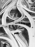 Four-Level Interchange at Turnpike Photographic Print by Philip Gendreau