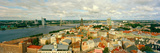 High Angle View of a Cityscape, Daugava River, Riga, Latvia Photographic Print