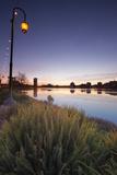 Night Falls at Lake Merritt, Oakland Photographic Print by Vincent James