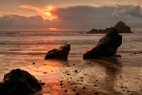 Sunset Seascape at Pfieffer Beach, Big Sur Photographic Print by Vincent James