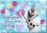 Frozen - Olaf Some People Are Worth Melting For Magnet Magnet