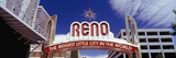 Low Angle View of the Reno Arch at Virginia Street, Reno, Nevada, USA Photographic Print
