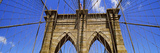 Low Angle View of a Suspension Bridge, Brooklyn Bridge, New York City, New York State, USA Photographic Print