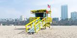 Lifeguard Station on the Beach, Santa Monica Beach, Santa Monica, California, USA Photographic Print