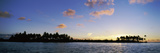 Motus at Sunset, Bora Bora, Society Islands, French Polynesia Photographic Print