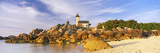 Lighthouse at the Coast, Pontusval Lighthouse, Brignogan-Plage, Finistere, Brittany, France Photographic Print